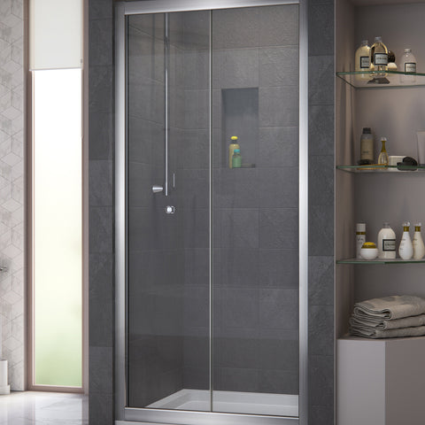 "DreamLine SHDR-4536726-01 Butterfly 34 to 35 1/2"" Frameless Bi-Fold Shower Door, Chrome Finish - Mega Supply Store - 1"