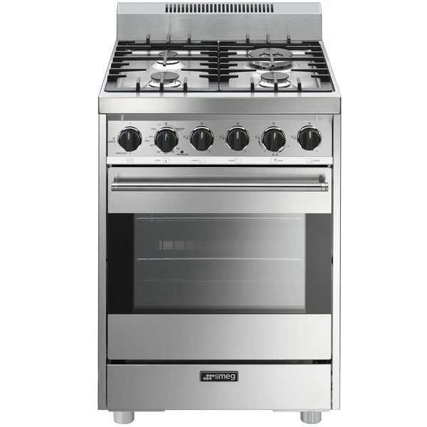 "Smeg C24GGXU 24"" All-Gas Pro-Style Range - Mega Supply Store - 1"