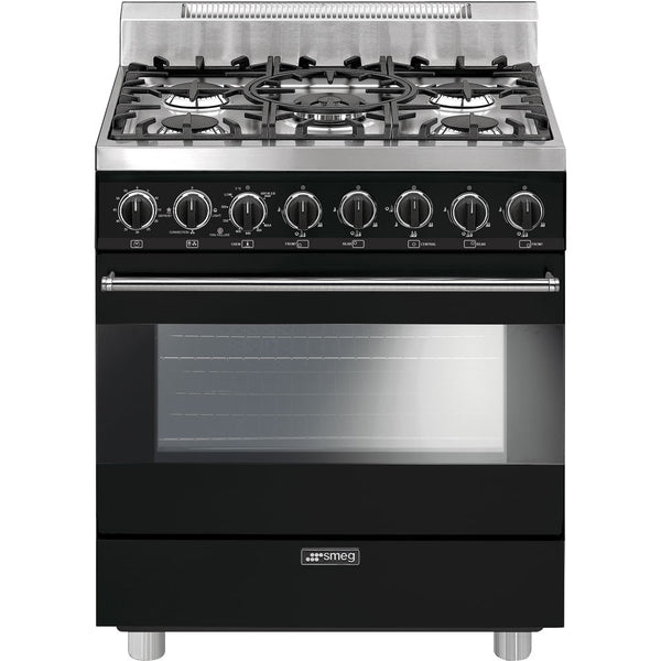 "Smeg C30GGNU 30"" ""Pro-Style"" All-Gas Range Black - Mega Supply Store"
