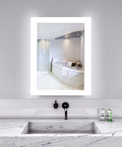 "Creators Civis CVAN2436LED LED 24"" x 36"" Angel Lighted Bathroom Mirror - Mega Supply Store - 1"