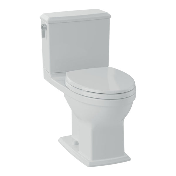 TOTO CST494CEMFG#01 Connelly Two-Piece Toilet 1.28 GPF & 0.9 GPF, Elongated Bowl | Cotton/White - Mega Supply Store