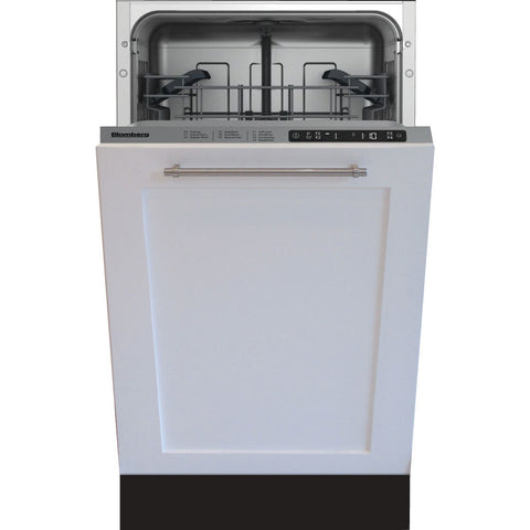 "Blomberg DWS55100FBI 18"" ADA Tub Dishwasher, Top Control, 5 Cycle, Full Integrated Panel Overlay, 49dBA - Mega Supply Store"