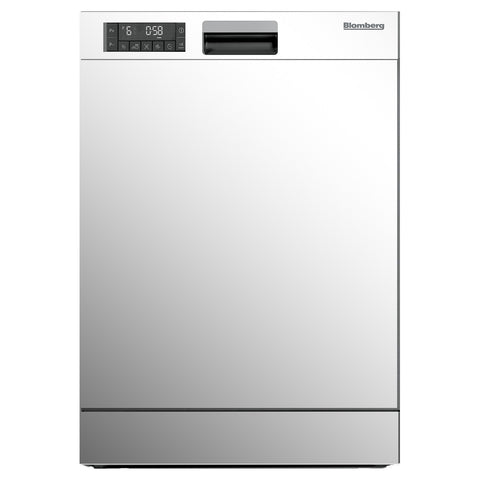 Blomberg DWT25502W Tall Tub Dishwasher 5 Cycle Front Control White 49 dBA - Mega Supply Store