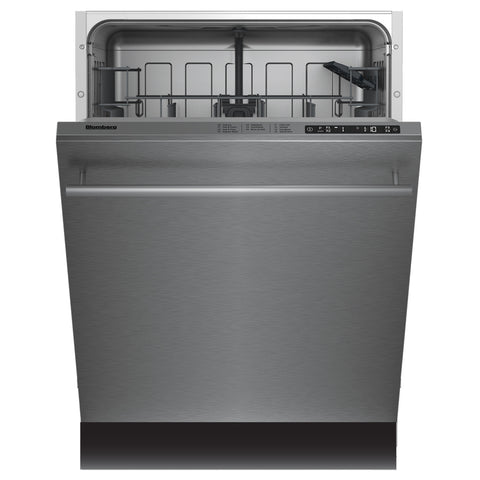 Blomberg DWT58500SSWS Tall Tub Dishwasher 8 Cycles Top Control 3rd Rack Stainless 45dBA Water Softener - Mega Supply Store