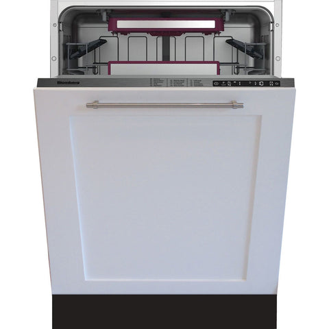 Blomberg DWT59500FBI Tall Tub Dishwasher 9 Cycles Top Control 3rd Rack Full Integrated Panel Overlay Self Clean 42dBA - Mega Supply Store