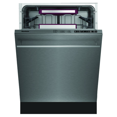 Blomberg DWT58500SS Tall Tub Dishwasher 8 Cycles Top Control 3rd Rack Stainless 45dBA - Mega Supply Store