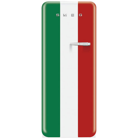 Smeg FAB28UITL1 50s Stlye Refrigerator With Freezer Compartment. Special Edition Italian Flag. - Mega Supply Store