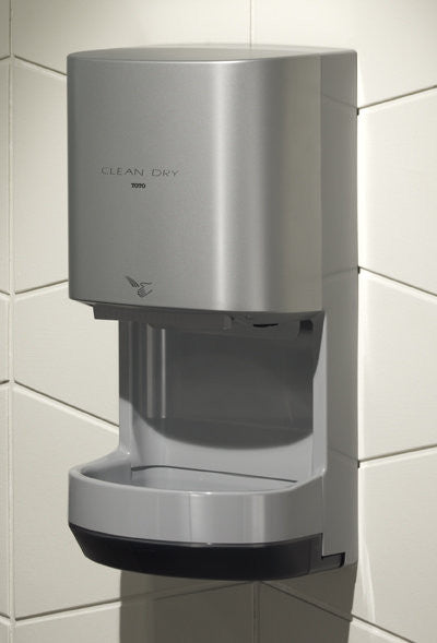 Toto Hdr100 Gy Clean Dry High Speed Hand Dryer Free