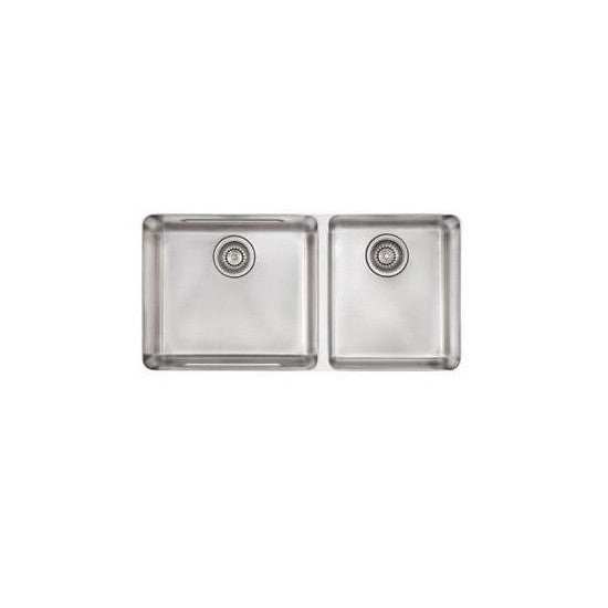 "Franke KBX12034 Stainless Steel Kubus 34-5/8"" x 17-1/3"" Double Basin Undermount Kitchen Sink - Mega Supply Store"