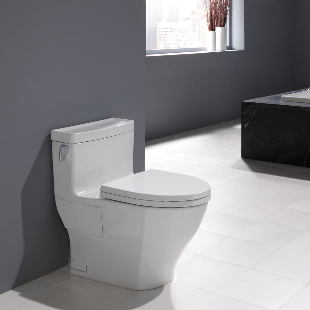 TOTO MS624214CEFG#01 Legato One-Piece Toilet, Elongated - White ...