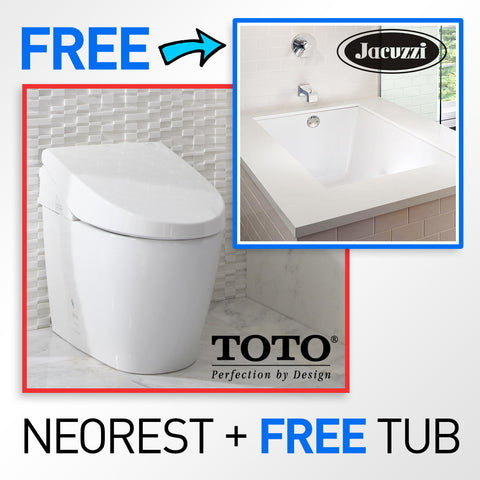 "TOTO MS982CUMG#01 Neorest 550H Toilet with a FREE Jacuzzi Elara 72"" x 36"" Soaking Bathtub"