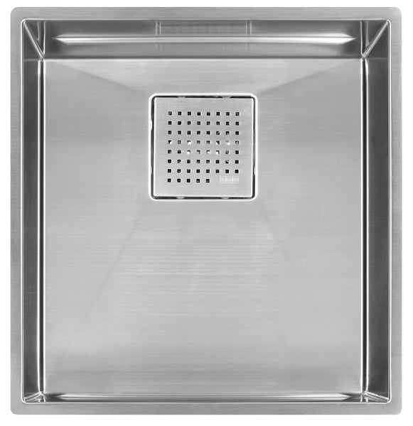 "Franke PKX11016 Stainless Steel PEAK Sink Collection 16-7/8"" x 17-3/4"" Single Basin Undermount Kitchen Sink - Mega Supply Store"