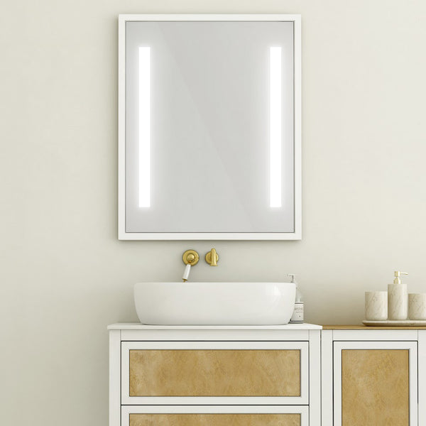 "Baden Haus Retro 23"" x 35"" LED Stripes Lighted Bathroom Mirror by Toni Sabatino"