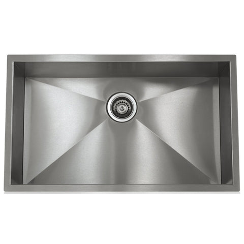 Lenova SS-0Ri-S5 28-inch Undermount Single Bowl 16 Gauge Stainless Steel Kitchen Sink - Mega Supply Store - 1