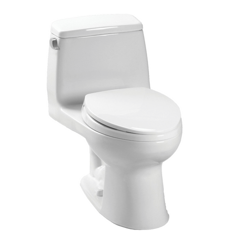 TOTO MS854114SL#01 UltraMax One-Piece Toilet, 1.6 GPF, ADA Compliant, Elongated Bowl | Cotton/White - Mega Supply Store - 1