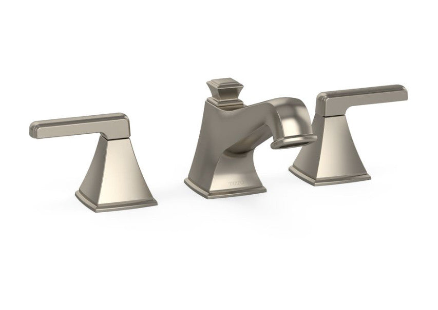 TOTO TLDDBN Connelly Widespread Bathroom Faucet In Brushed - Toto bathroom fixtures