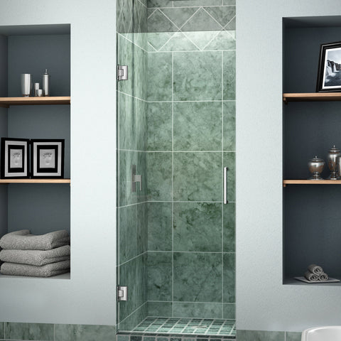 "DreamLine SHDR-20247210F-01 Unidoor 24"" Frameless Shower Door, Clear 3/8"" Glass, Chrome Finish - Mega Supply Store - 1"
