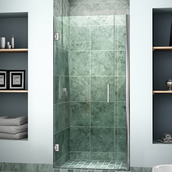 "DreamLine SHDR-20307210-01 Unidoor 30 to 31"" Frameless Shower Door, Clear 3/8"" Glass, Chrome Finish - Mega Supply Store - 1"