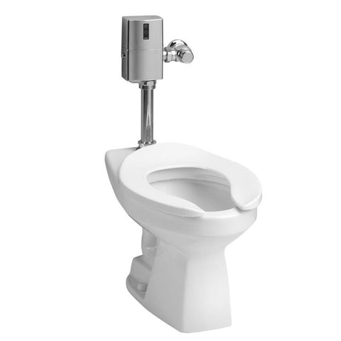 TOTO CT705ELNG#01 Commercial Flushometer High Efficiency Toilet, 1.28 GPF, ADA Compliant, Elongated Bowl | Cotton/White - Mega Supply Store