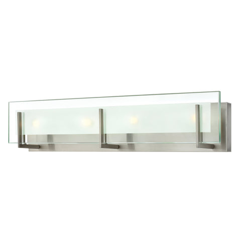 "Hinkley Lighting 5654BN Latitude 4 Light 26"" ADA Compliant Bathroom Vanity Light, Brushed Nickel - Mega Supply Store"