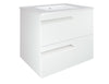 "Royo Vitale Premium Bathroom Wall-hung Vanity - Cabinet and Sink 24"" White - Mega Supply Store - 4"
