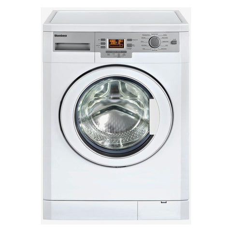 "Blomberg WM77120 24"" 1000 rpm LCD Washer, 1.95 cu ft Load Capacity, White (22"" deep) - Mega Supply Store"