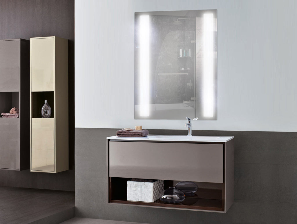 "Bathroom Mirrors 24 X 30 sasha alexandra led lighted bathroom mirror 30"" x 42"" – mega"