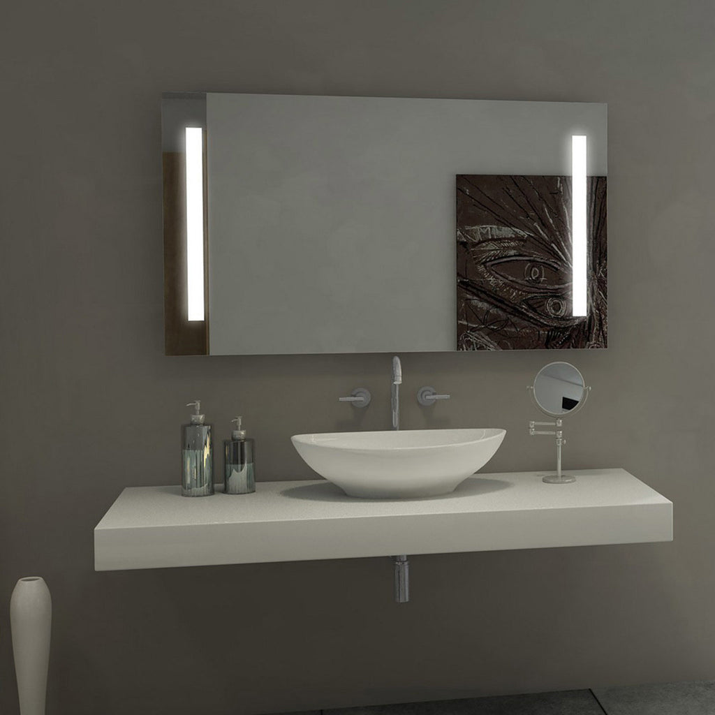... Sasha Alexandra LED Backlit/Lighted Bathroom Mirror 30 x 42