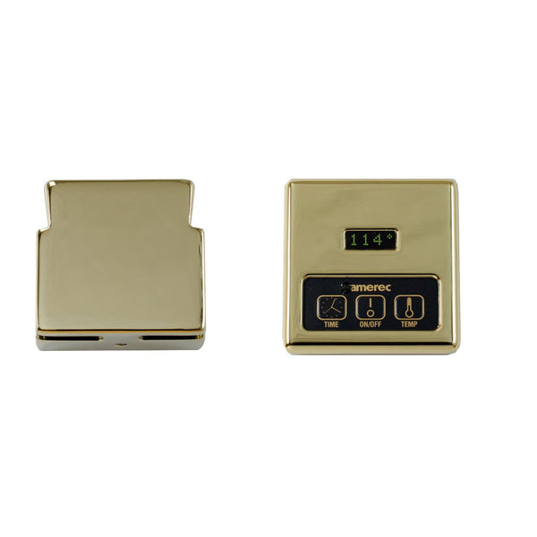 Amerec KT60-PB 9111-102 Digital Control & Steam Head Polished Brass - Mega Supply Store