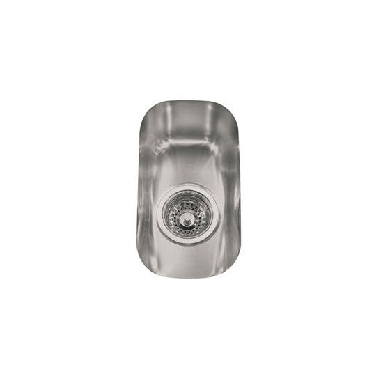"Franke ARX1106 Stainless Steel Artisan 7-1/2"" Single Basin Undermount 16-Gauge Stainless Steel Bar Sink - Mega Supply Store"