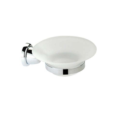 Artos C-04/3BN Cantori Frosted Glass Soap Dish and Holder in Brushed Nickel - Mega Supply Store