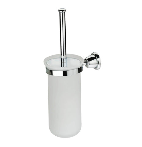 Artos C-11/3BN Cantori Brush Holder & Frosted Glass Vase in Brushed Nickel - Mega Supply Store