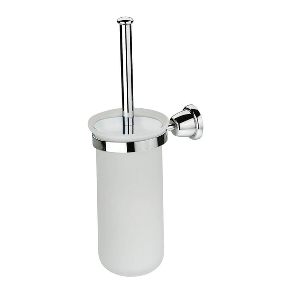 Artos C-11/3CH Cantori Brush Holder & Frosted Glass Vase in Chrome - Mega Supply Store
