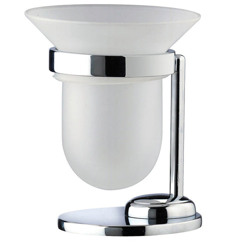 Artos C-13/3BN Cantori Free Standing Frosted Tumbler & Holder in Brushed Nickel - Mega Supply Store