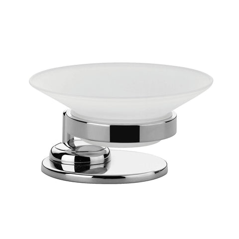 Artos C-14/3CH Cantori Freestanding Frosted Glass Soap Dish in Chrome - Mega Supply Store