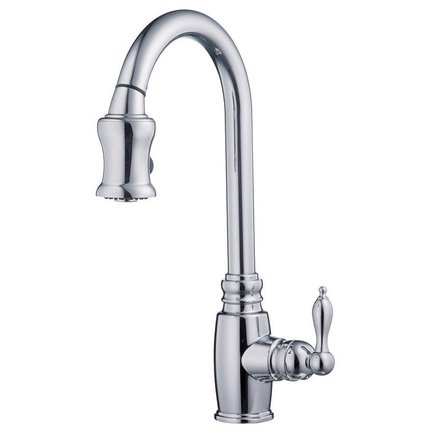 Danze D454557 Chrome Pull Down Spray Kitchen Faucet, Opulence Collection