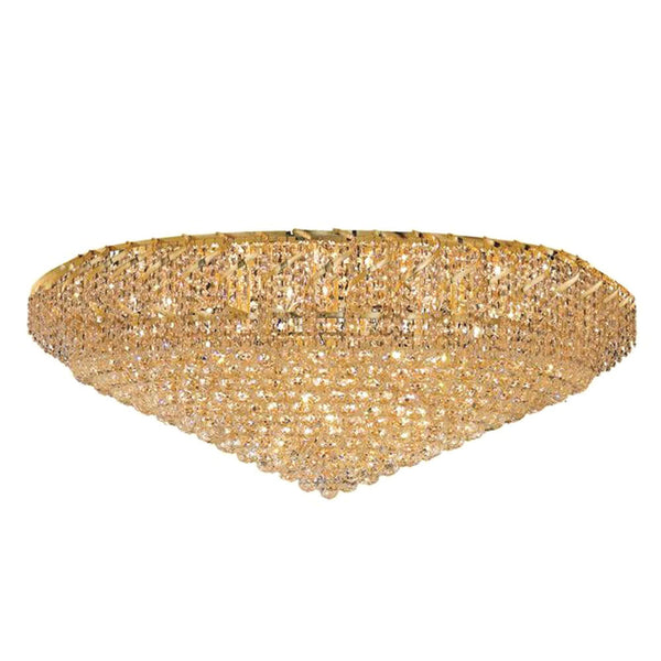 "Elegant Lighting ECA1F48G/RC Belenus Collection Flush Mount Light Fixture D48"" x H21"" Gold Finish (Royal Cut Crystals) - Mega Supply Store"