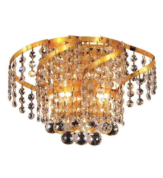 "Elegant Lighting ECA1W12G/EC Belenus Collection Wall Sconce W12"" x H8"" x E9"" Gold Finish (Elegant Cut Crystals) - Mega Supply Store"