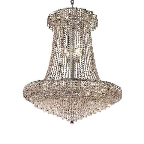 "Elegant Lighting ECA4G36SC/SS Belenus Collection Foyer/Hallway Large Hanging Fixture D36"" x H42"" Chrome Finish (Swarovski Strass/Elements Crystals) - Mega Supply Store"