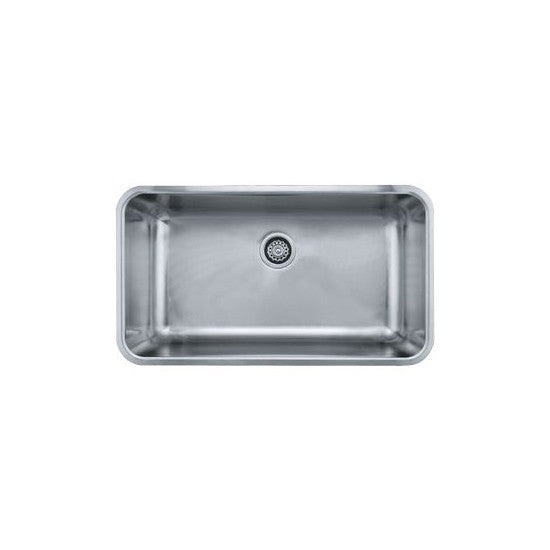 "Franke GDX11031 Stainless Steel Grande 18-3/4"" x 32-3/4"" Single Basin Undermount Kitchen Sink - Mega Supply Store"