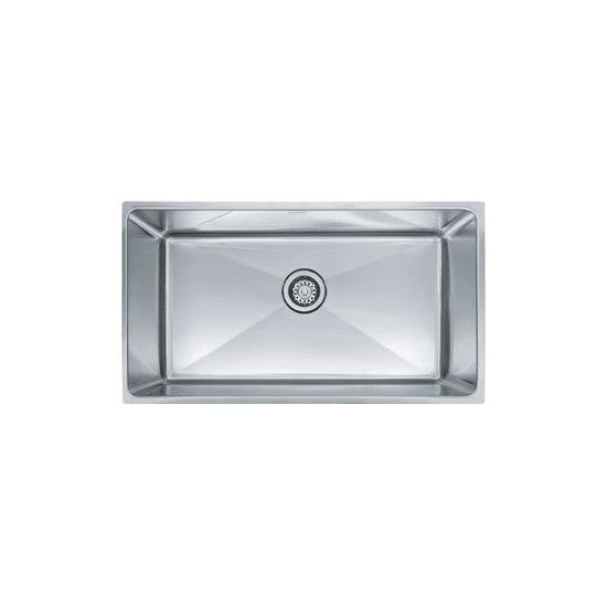 "Franke PSX1103310 Stainless Steel Professional 34"" x 17-5/8"" Single Basin Undermount Kitchen Sink - Mega Supply Store"