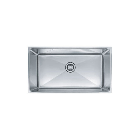 "Franke PSX1103312 Stainless Steel Professional 34"" x 19-5/8"" Single Basin Undermount Kitchen Sink - Mega Supply Store"