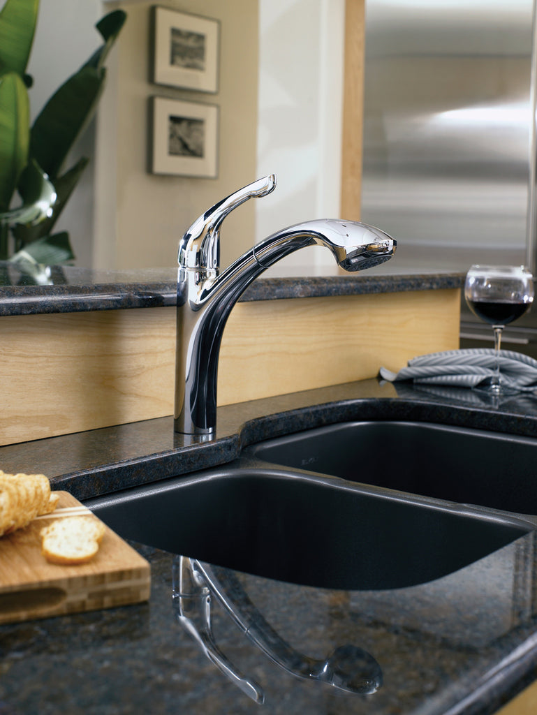 hansgrohe chrome allegro e pullout kitchen faucet with toggle spray diverter mega