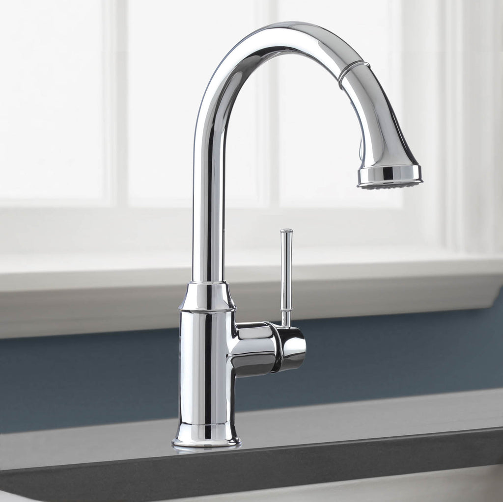 hansgrohe 04215000 chrome talis c pull down kitchen faucet hansgrohe 04506801 focus steel optik pullout spray kitchen