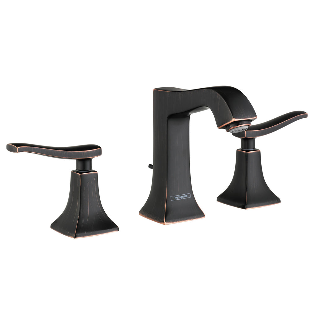 Hansgrohe 31073921 Rubbed Bronze Metris C Bathroom Faucet Widespread Faucet  With Lever Handles   Mega Supply ...