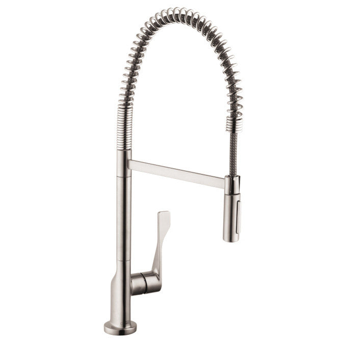 Hansgrohe Axor 39840801 Steel Optik Citterio Pre Rinse Kitchen Faucet With  Toggle Spray Diverter