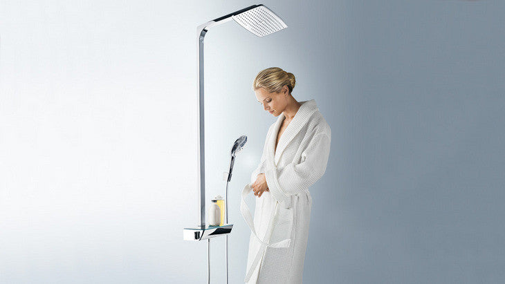 hansgrohe chrome raindance select showerpipe with rain shower head hand shower