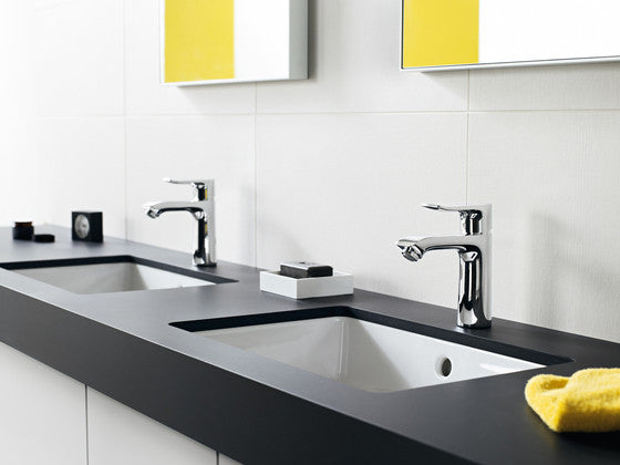 hansgrohe  nickel metris bathroom faucet  mega supply store,