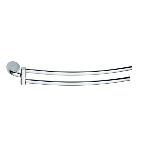 Artos L-09CH Lulay Hinged Towel Rail in Chrome - Mega Supply Store