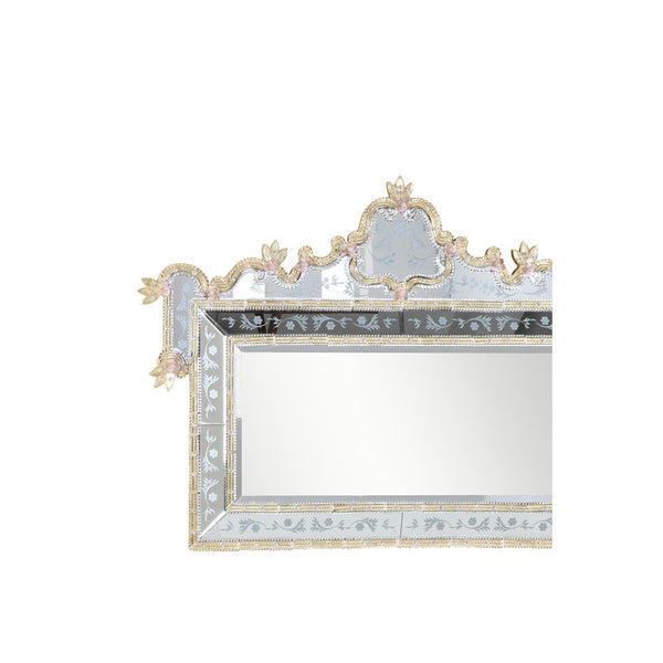 "Elegant Lighting MR-1005G Mirror 58"" x 2.8"" x 39"" H Gold, Murano Collection - Mega Supply Store"